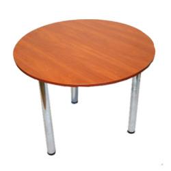 Аренда круглых столов на хром ножках
